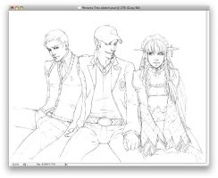 Comm WIP: Persona Tres by No-Nami