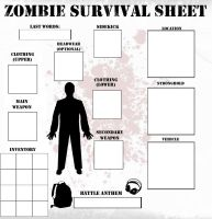 Zombie Survival Sheet Template by Mr-Alf