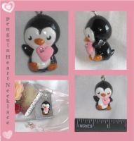 Polymer Clay Penguin Heart by Lisas-Art-Endeavors