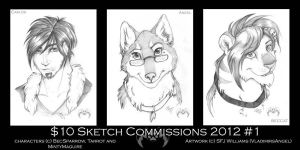 $10 Commission Sketches 2012 - BecSparrow by vladimirsangel