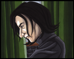 Professor Severus Snape by CrystallineColey