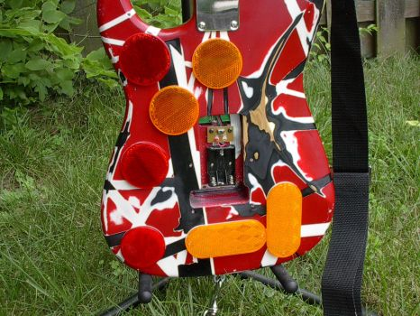 PS2 Guitar Hero Controller - EVH Frankenstein by Granpapony