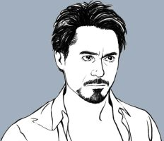 Non coloring Tony Stark- by Hallpen