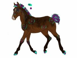 2198 WVF Tis The Night  foal design by shockmyworld12