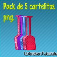Pack de cartelitos png by UnbrokenTutorials