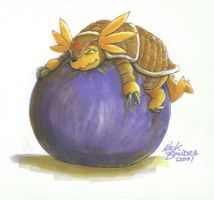 Armadilomon Balloon by Inflato-Phraggle