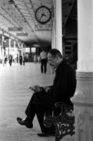 waiting with technology by gli