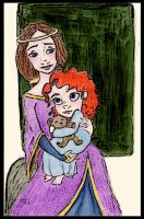 Brave - little Merida + Mother by DottyDrama