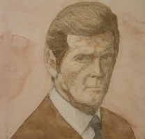 Roger Moore by Jeremiah29