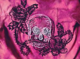 Etched Skull Jacket by browneyedanachronism