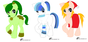 Pony Adoptables! :OPEN: by Shimmering-Adopts