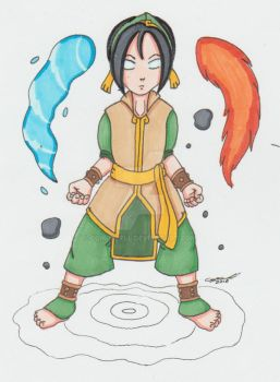 Commission: Avatar State Toph by cqmorrell