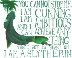 I am a Slytherin. by DragonTygress