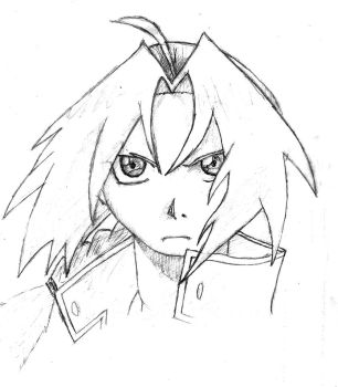 serious Edward Elric by GhoztRider