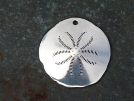 Stainless Steel Sand Dollar Pendant by ou8nrtist2