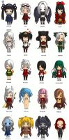 All of the Chibis Meme by Nezumi-chuu