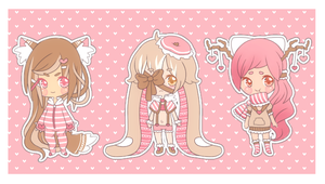 Valentine Cutie Adopts - CLOSED by Kitty-Vamp