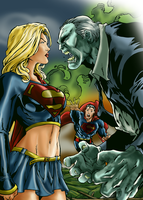 Supergirl vs Solomon Grundy by Zakuuya