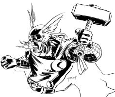 Thor_daily sketch by ickhwano
