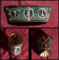 Leather cuff Ancestral Pride by Wodenswolf