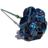 Blue Plaid Duct Tape Rose by DuckTape-Rose