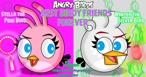 Angry Birds Best Birdy Friends: Stella and Winter by MeganLovesAngryBirds