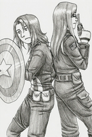 Irl Captain America AU by Hidden-Falls-Girl