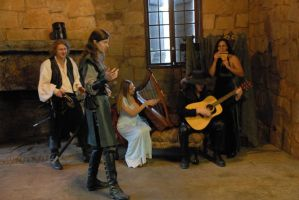 Medieval Musicians by LinzStock