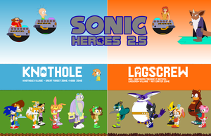 Sonic Heroes 2.5 (Plus Tufftee) - Complete Family by Mryayayify
