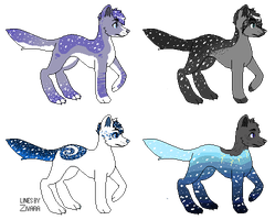 Starry Canine Adopts- Offer to adopt :0/4 closed!: by Deviadopts