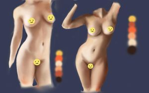 Female body practice by millegas