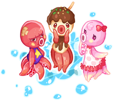 Bubble Friends by Seafish-Neko