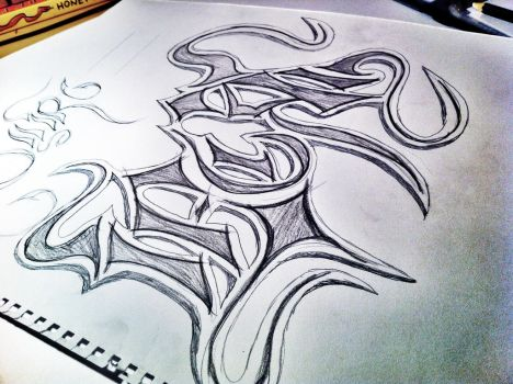 Some calligraphy by Noodough