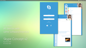 Linux Skype Concept v2 by c42759