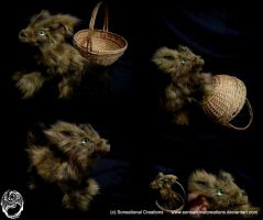 Handmade OOAK Poseable Fox Pup - SOLD by SonsationalCreations