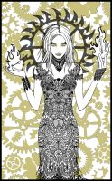 Bedlam Insanity Lace Print by wraithwitch
