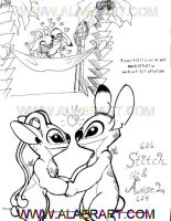 Stitch and Angel Lovers by alaer