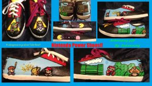 Nintendo power Shoes! Artcrossing gift #5 by Zchanning