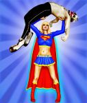 Supergirl And The Evil Jester by Jumpfer-Stock