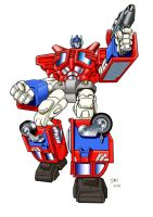 Optimus Prime RiD by Simon-Williams-Art