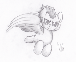 Soarin' Being Awesome (Commission) by drawponies