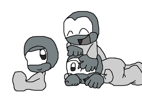 Three Cute Little Babies Base by Wolf-Prince-Leon