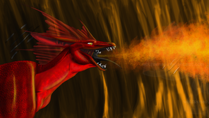 Dragon's Flame by KitWolfren