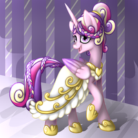 Cadance at the Gala by wingedwolf94
