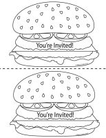 Father's Day Burger Invite - 2-up by chat-noir