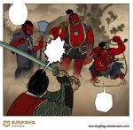 Lady Snowwhite and the 7 Samurai preview by burningflag