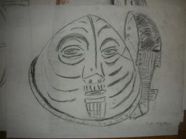 Sketch of African Mask by Xoxorian
