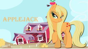 Wallpaper Sexy farmer Applejack by Barrfind