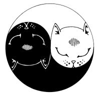 Yin Yang Kitties by YoungWitches