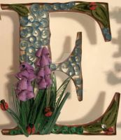 Paper Quilling 'E' (Stella baby name project) by wholedwarf